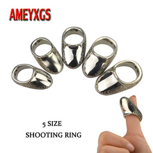 1pc Archery Finger Guard Bow And Arrow Safety Shooting Ring Traditional Thumb Guard For Hunting Finger Protective Gear bowstring finger guard hunting archery saver soft silicon material protector gear quick shooting target bow and arrow accessory