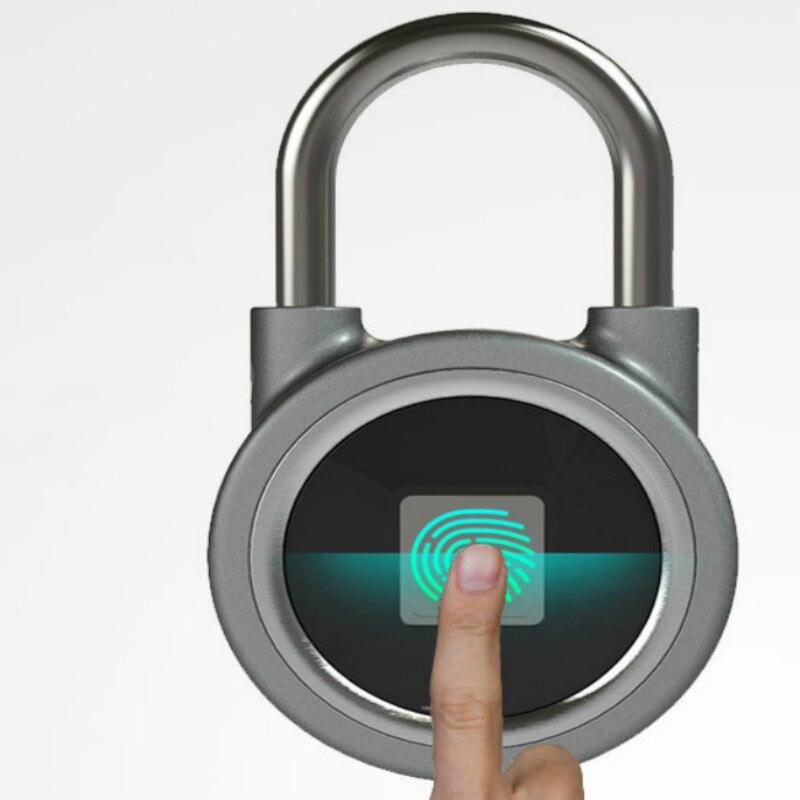 Empreinte digitale serrure intelligente sans clé étanche APP bouton mot de passe déverrouiller Anti-vol cadenas serrure de porte pour système Android/iOS