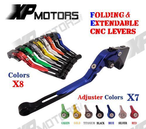 Folding Extendable Brake Clutch Levers For Yamaha V-MAX 2009 2010 2011 2012 2013 2014 aluminum folding billet adjustable extendable brake clutch levers for aprilia rsv4 1000 factory 2009 2015 2010 2011 2012 2013