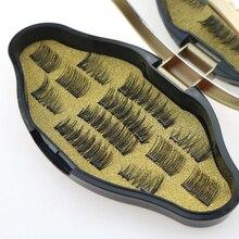 Магнитный ненастоящий макияж ресниц инструменты ручной длинный наращивание ресниц с старинная(винтажная) коробка естественные кудри накладные ресницы для Красота
