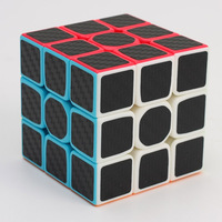 3x3x3 Carbon Fiber Sticker Rubik Cube Speed Smooth Magic Fidget Cubes For Children Gift
