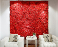 Red Wedding Flower Wall Rose & Hydrangeas Flower Backdrop with Aluminum Folded Pipe Event Props Wedding decor