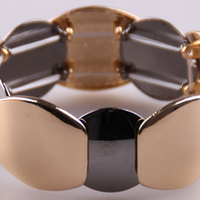 Винтажные роскошные золотые/Бронзовые большие гладкие металлические браслеты для мужчин и женщин подарок на праздник
