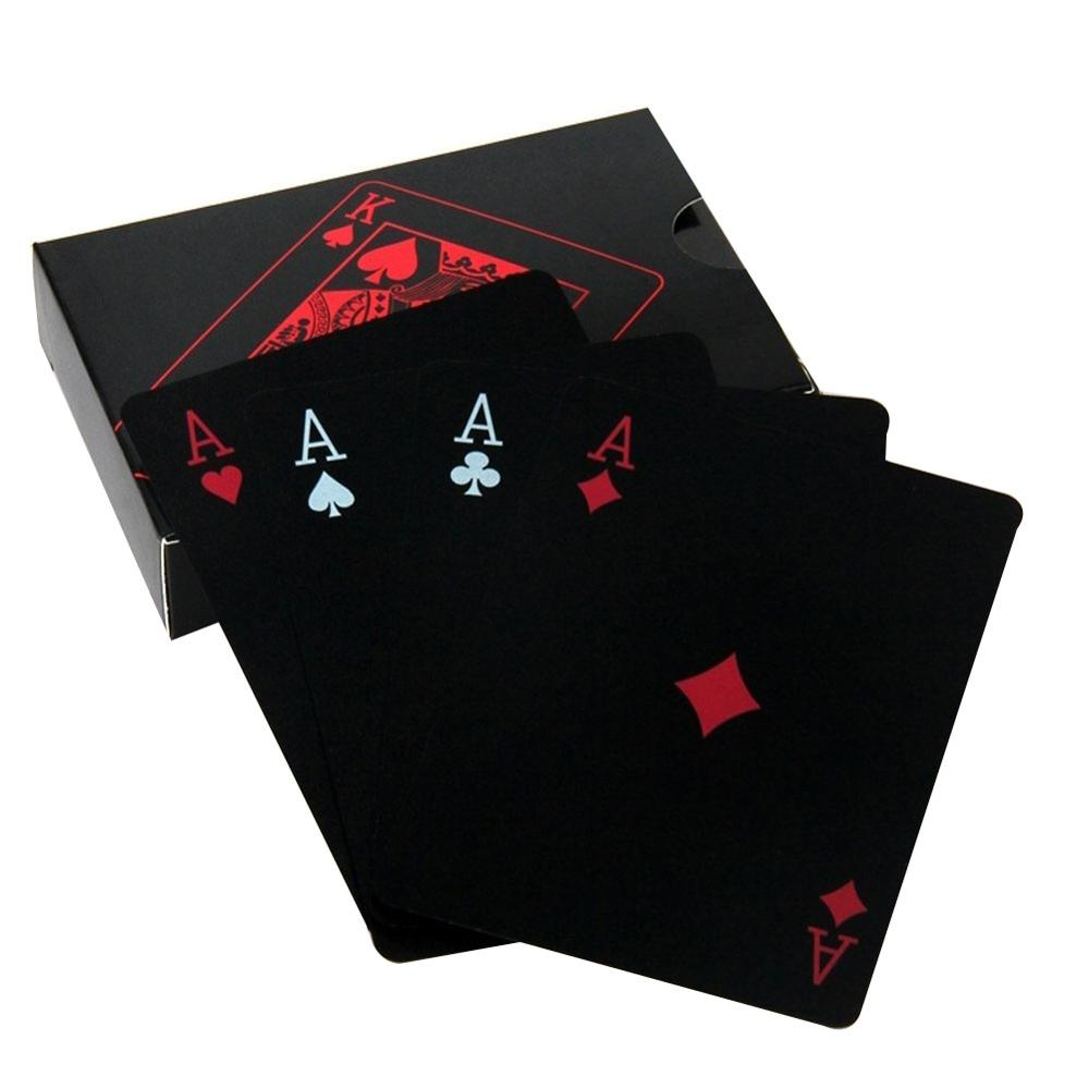 Creative PVC Poker Waterproof Table Game Playing Cards Set Trend 54pcs Deck Poker Classic Magic Trick Tool Party Favor Magic Box