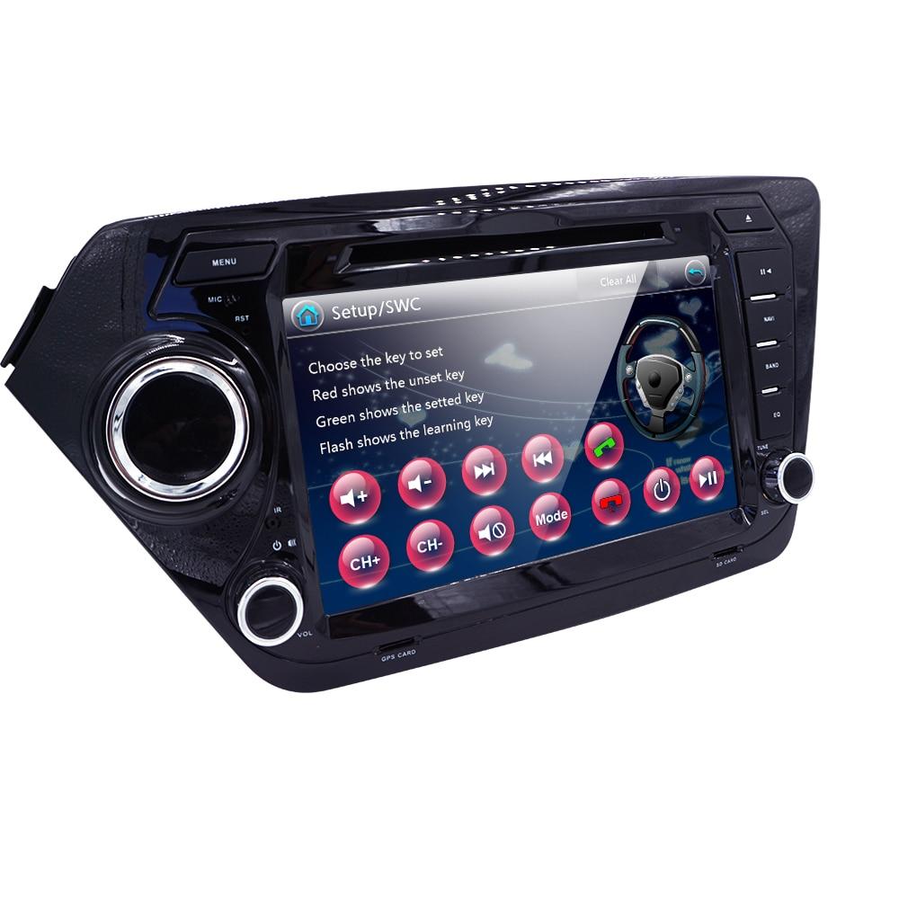 Car Monitor DVD Player for KIA RIO K2 with Radio,GPS Navigation,TV,Steering wheel,BT,USB/SD,Russian menu,RDS IPOD Free 8GB Map