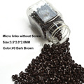 Aluminum Micro Links 3.5*2.0*2.0MM 1000Pcs/Bottle Dark Brown #3 Micro Rings Micro Beads For Hair Extension Aliexpress Hot Sale