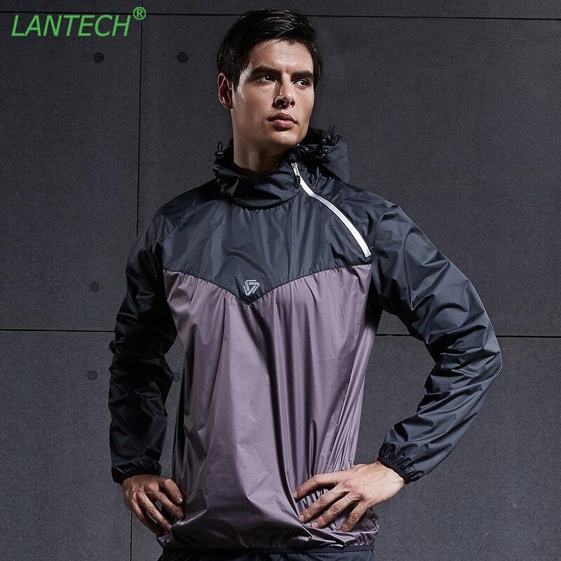 LANTECH Men Hot Sweat Jacket Running Jacket Sports Sportswear Sauna Run Training Fitness Exercise Gym Jacket Clothes Long Sleeve все цены