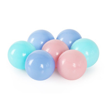 Купить с кэшбэком 50pcs/lot Eco-Friendly Candy Color Plastic Stress ball Pits Beads in swimming Pool Ocean Wave Ball Baby Toys Stress Air Ball 8cm