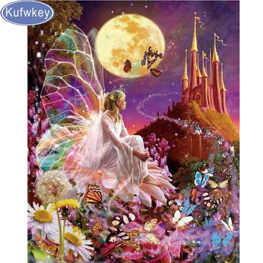 5d Diydiamond Painting Cartoon Fairy Cross Stitch Fairies