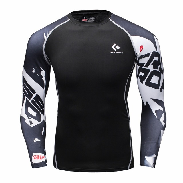 Mens Compression Shirt Body Base Layer Thermal Tops Long Sleeve T-Shirt  Skins Gear Cool b688bc9cc