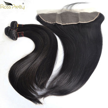 Ross Pretty Remy Human Hair bundles with frontal Pre Plucked and Baby Hair Brazilian Straight Hair Lace Frontal with Bundles ross pretty remy hair kim k closure 2 6 brazilian straight hair lace closure human hair pre plucked with baby hair
