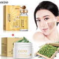 OEDO Gold Snail Essence+Green Beans Purified Face mask Cream Skin Care Moisturizing Whitening Shrink Pores Oil Control Acne
