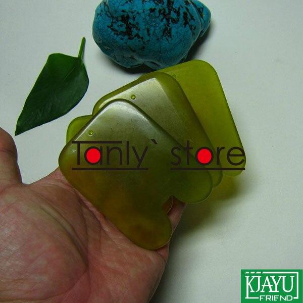 Haute qualité! épaissir! en gros et au détail corps massage guasha kit beauté du visage plaque place graisse taille 100% jade