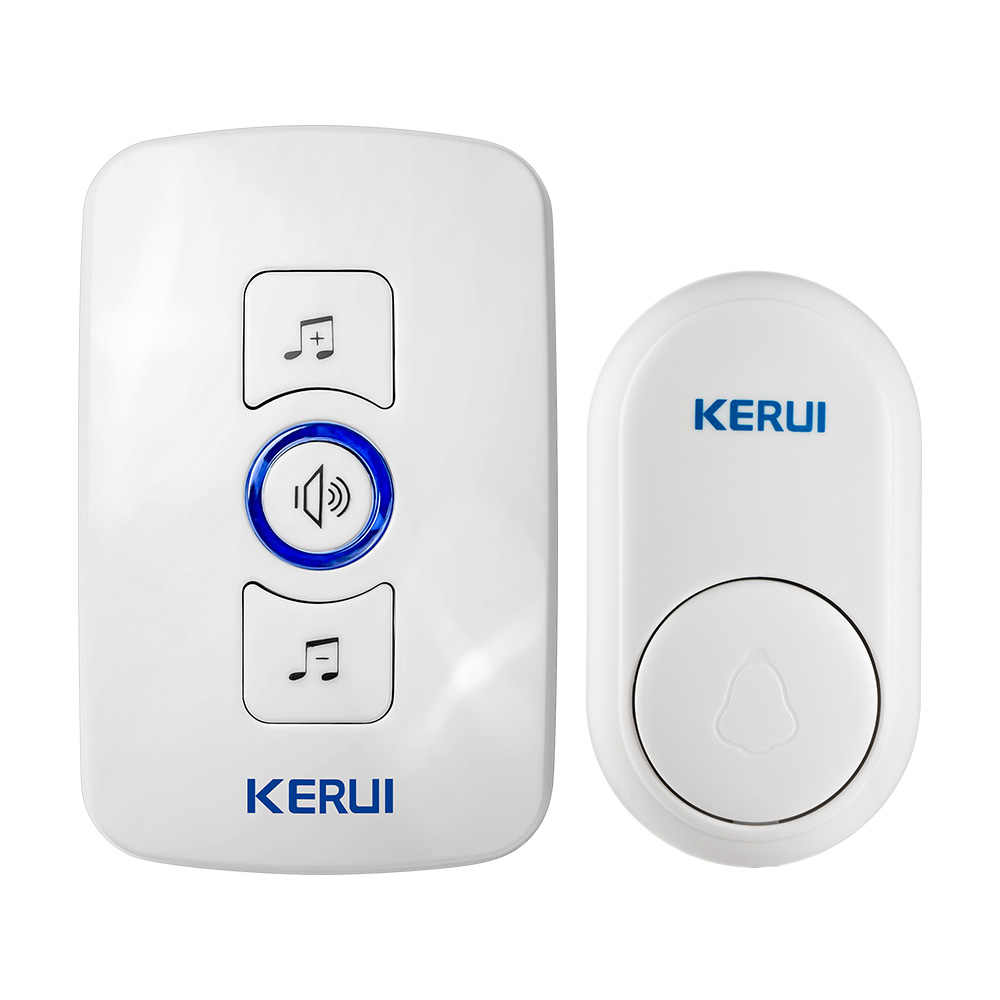 KERUI M656 Doorbell Cordless Bell Smart Wireless Receiver Call 433MHz  Doorbell No Battery Home Gate Chime Alarm Security System