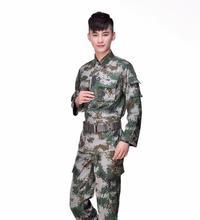 Camouflage suit uniforms in the field of bionic Langya male fan wear jungle combat suit portable outdoor leisure wear uniforms недорого