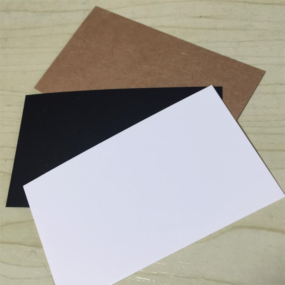 100 Pcs Lot Blank Kraft Paper Business Card Message Word Clic Retro Style Gift Thanks Tag Say Hi 6573