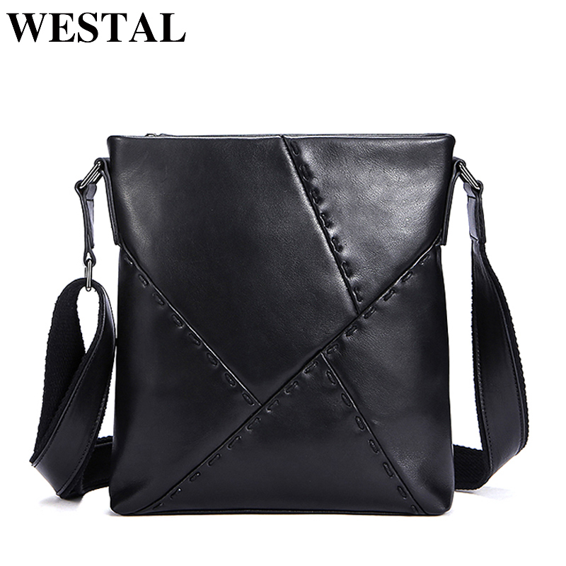 WESTAL Crossbody Bags Casual Men's Bags Male Genuine Leather Shoulder Messenger Bag Men Leather black Shoulder Bag for Men 2018 westal hot sale male bags 100% genuine leather men bags messenger crossbody shoulder bag men s casual travel bag for man 8003
