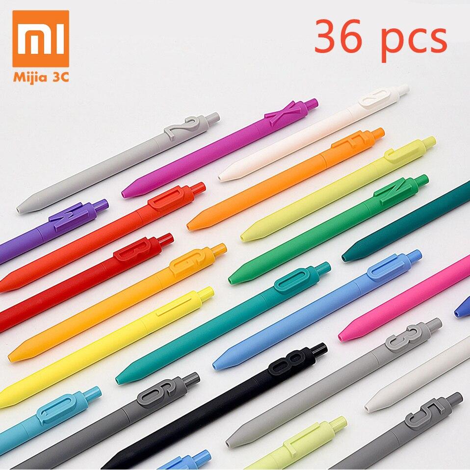 Xiaomi KACO ALPHA Gel stylos à encre 36 pièces lettre A-Z numéro 0-9 couleurs pointe Fine 0.5mm pour peinture étudiant bureau cadeau encre noire