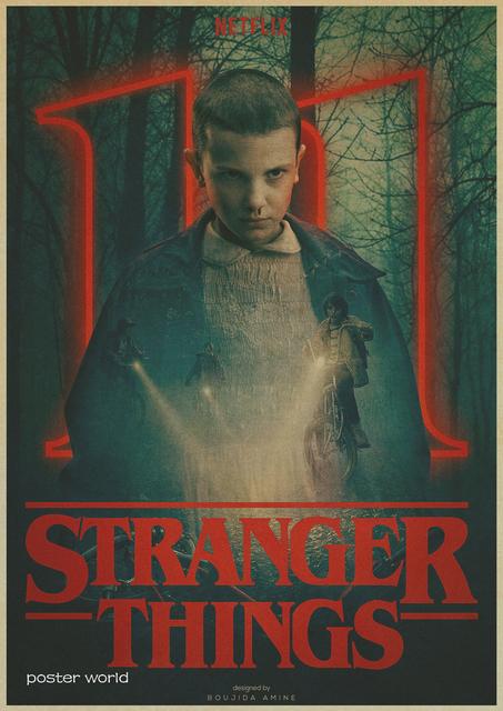 Stranger Things Kraft Decorative Poster