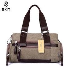 Men Canvas Multi Pockets Bag Fashion Men's Messenger Bag Shoulder Bag Travel  Duffel Bag 2278