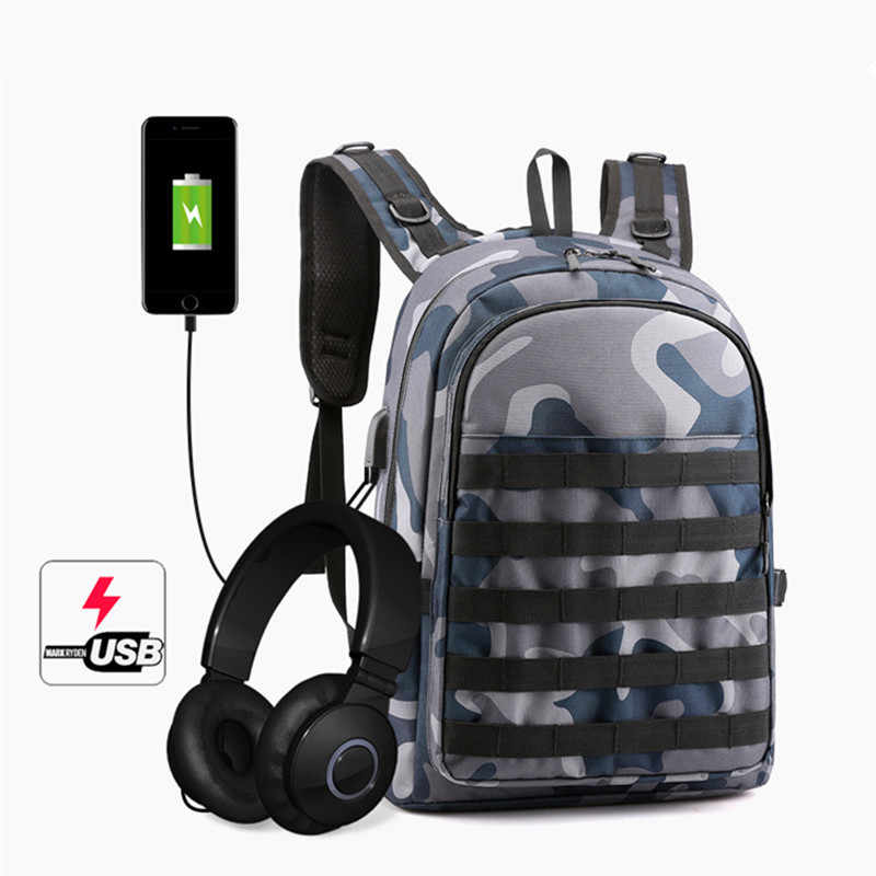 PUBG Backpack Men Bag Mochila Pubg Battlefield Infantry Pack Camouflage Travel School Bags For  Boy Men Cosplay Level 3 Backpack