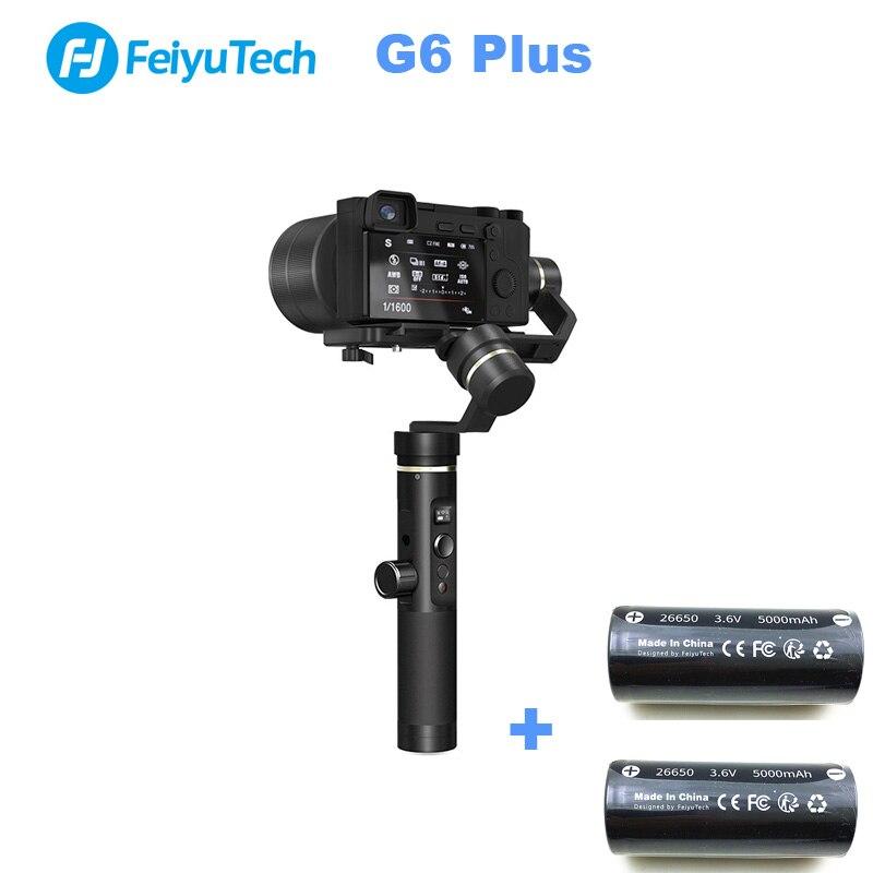 (مع بطاريتين) feiyuTech G6 زائد 3 المحور يده مثبت أفقي للكاميرا GoPr الذكي حمولة 800g FY G6P G6PLUS-في قطع غيار وملحقات من الألعاب والهوايات على  مجموعة 1