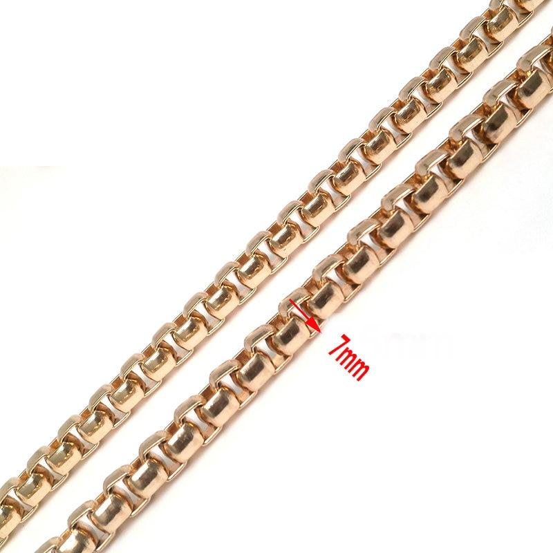 5pcs/lot 120cm DIY Bag Chain Strap Replacement Small Handbags Fashion Handles Chain Women Metal Chain Shoulder Bag Straps