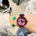 Reloj de cristal de marca de lujo 2019 para mujer, relojes de vestir, relojes de cuarzo de oro rosa para mujer, relojes de pulsera de acero inoxidable para mujer