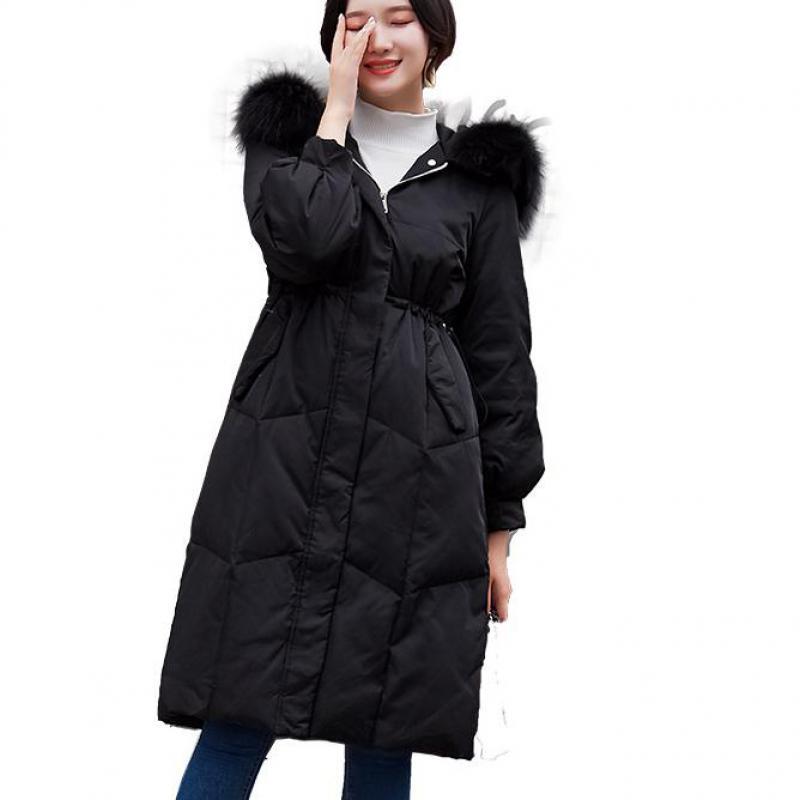 rose Hiver Bas Le Version Nouvelle Auto De Femmes Coréenne Noir culture 2018 Veste La Section Vers Longue blanc Dans qd6RTw