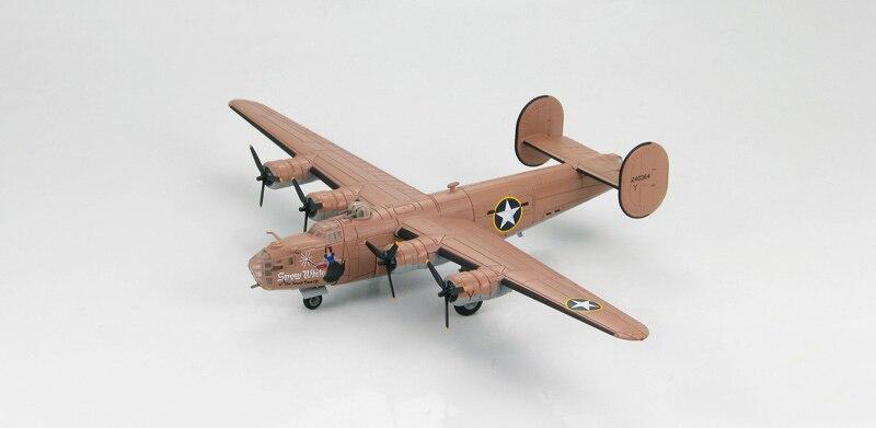 1: 144 Scale Model HA 9100 WWII US B-24D Liberator heavy bomber model snow White Favorites Model