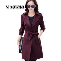 4XL Spring Autumn Women Trench Coat 2017 Big Yards Women Basic Coats Female European Trench Coat Plus Size Women Windbreaker new