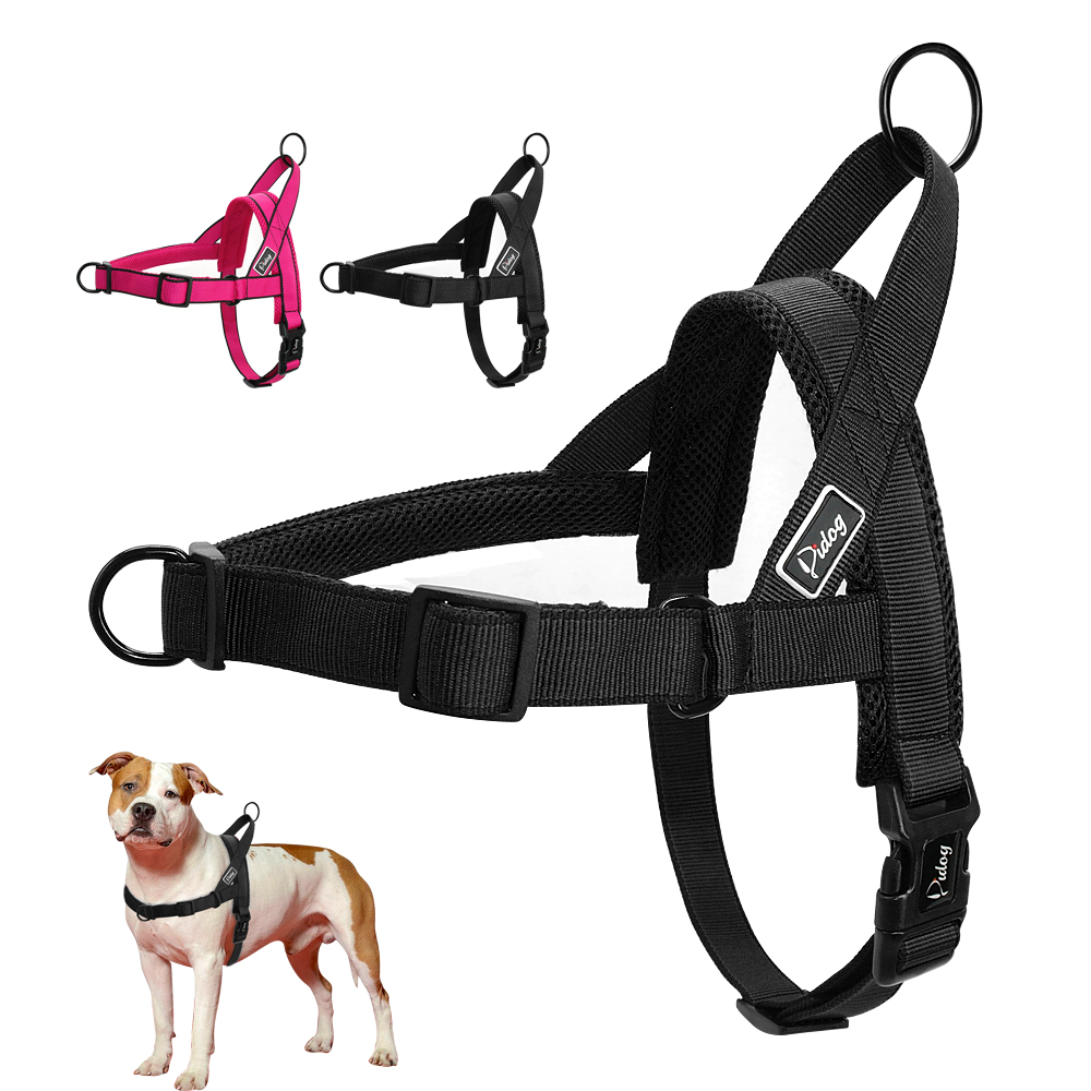 No Pull Dog Harness Quick Fit Nylon Dogs Harnesses Soft Mesh Padded Pet Vest Strap Walk Harnesses For Small Medium Large Dogs