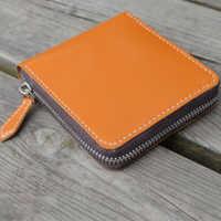 DIY leather craft kaarthouder portemonnee rits zak stansen mes schimmel hand punch tool template set