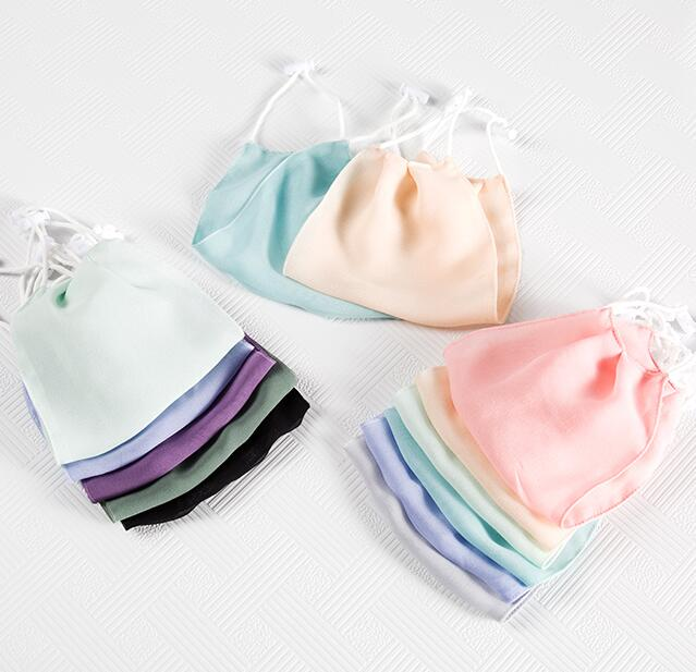 Men Women's Spring Summer 100% Silk Sunscreen Mask Lady's PM 2.5 Breathable Silk Mouth-muffle R1508