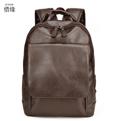 XIYUAN Men Bags Genuine Leather Men's Backpack Vintage Male Natural Leather Laptop Computer Bag Waterproof Travel School Bags male bag vintage cow leather school bags for teenagers travel laptop bag casual shoulder bags men backpacksreal leather backpack