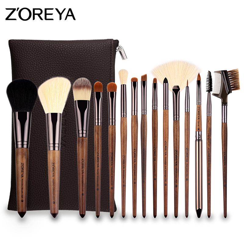 все цены на ZOREYA Pro 15pcs Makeup Brushes Set High Quality Soft Synthetic Hair Brush for Eyeshadow Lipstick Foundation Make Up Tools