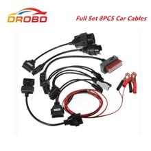 8 cabos dos carros dos pces ajustados para o cabo diagnóstico da relação dos carros de cdp pro ds150e tcs cdp