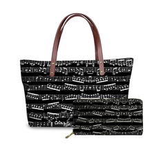 NOISYDESIGNS Bags for Women Music Note Printing Hand Bag Ladies Luxury Design Handbags Females Piano Pattern Top-Handle