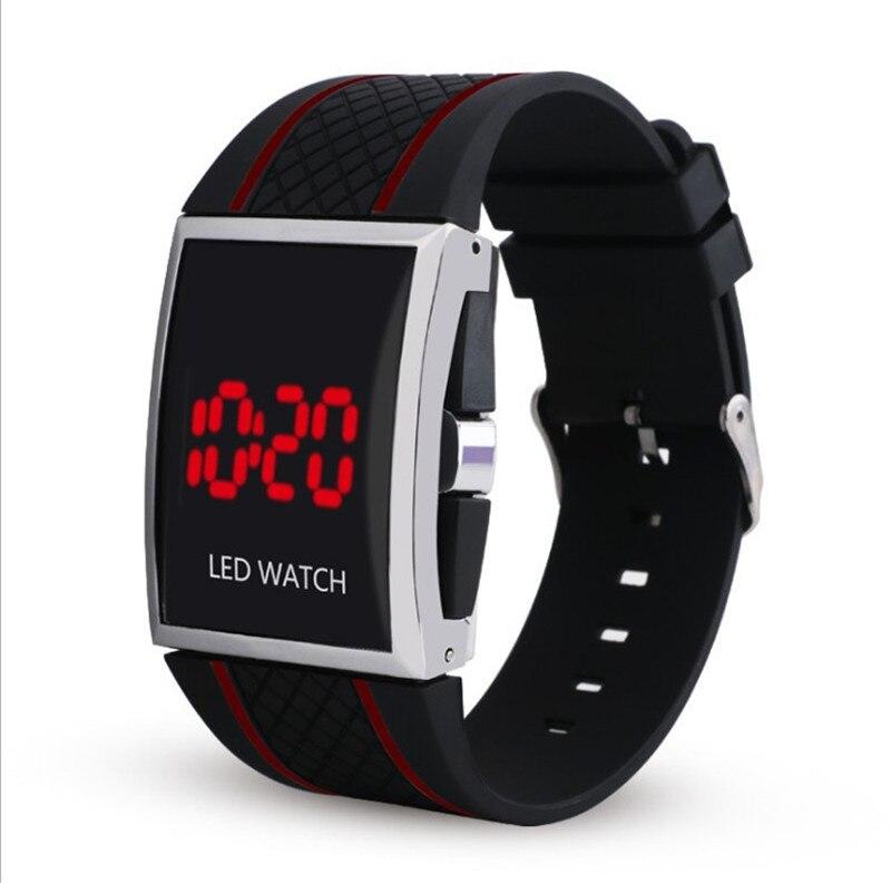 Uhren Neue Art Und Led-uhr Digitaler Männer Weibliche Liebhaber Uhr Sport-beiläufige Armbanduhr Silicon Armband Schwarz Weiß Uhren Saati Uhr