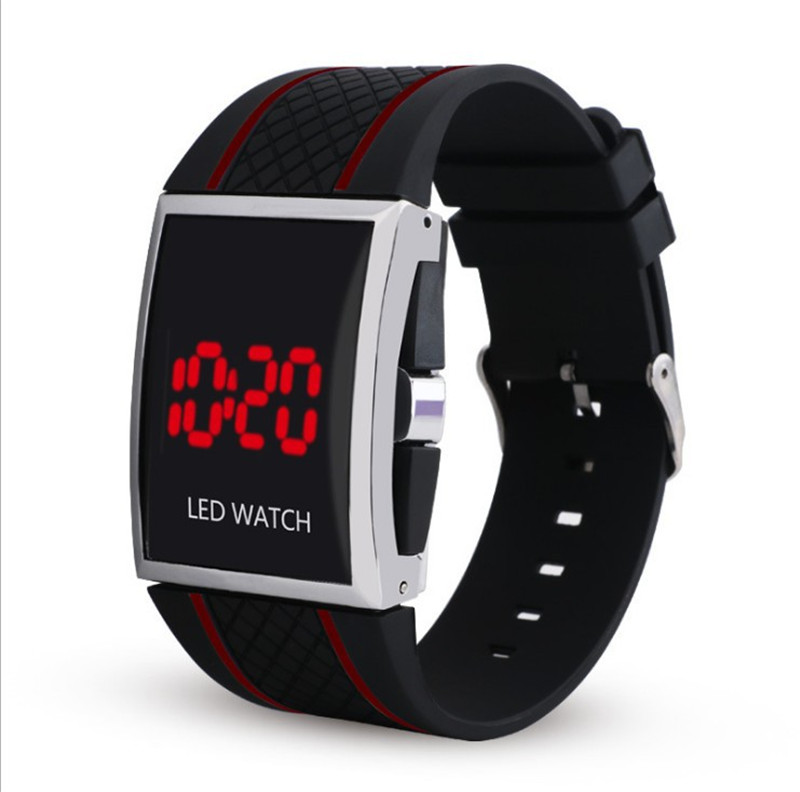 New Fashion Led Watch Digital Men Female Lover Watch Sports Casual Wristwatch Silicon Watchband Black White Relojes Saati Clock