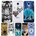 Lobo tiger pattern tampa do telefone case para meizu m2 m3 note m2 M3 S Mini Animal Pintado Silicone Macio TPU Protetora Shell M3 mini
