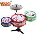 Bebê musical educacional toys jazz tambor de rock set criança aprendizagem musical toys