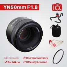 YONGNUO YN50mm F1.8 1:1. 8 объектива стандартный объектив с фиксированным фокусным расстоянием большой апертурой авто ручной фокусировки AF MF УФ-мешок для Nikon DSLR камеры