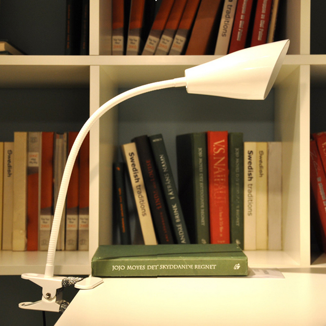 Creative desk lamp clip lamp usb rechargeable led lamp dimmer color student dormitory bedside reading lamp book li