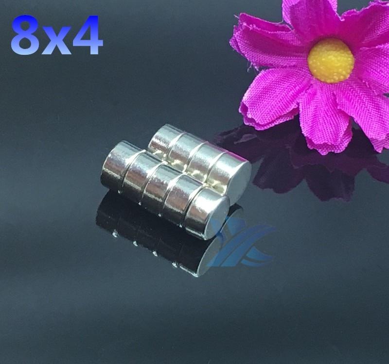 50pcs 8mm x 4mm  8x4 Super Rare Earth Neodymium Magnets 8*4 Fridge Craft NEW Art Craft Connection free shipping