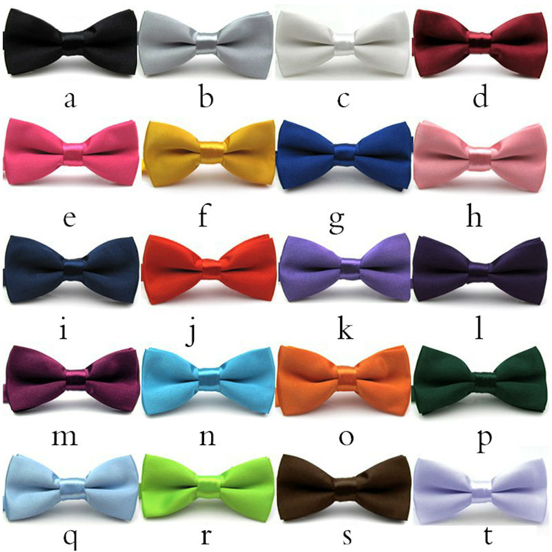 NEW Men Classic solid Bow ties Fashion Neckwear Adjustable Mens wedding Polyester Pre-Tied bowties Free Shipping