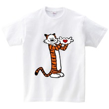 NEW Calvin And Hobbes T Shirt Bill Watterson District Shirts For boyngirl Gift T-shirt Unisex family party shirt lovely tees NN