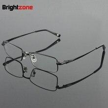 Ücretsiz kargo % 100% saf titanyum tam jant marka gözlük erkekler optik gözlük çerçevesi göz reçete gözlük óculos De Grau