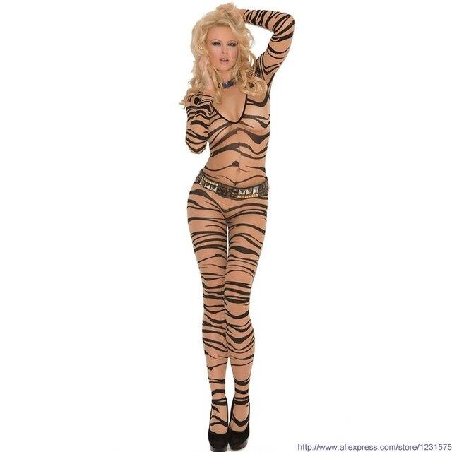 cfd6b2d7c Hot sexy cheap ladies womens striped zebra print sexy pajama sleepwear  lingerie