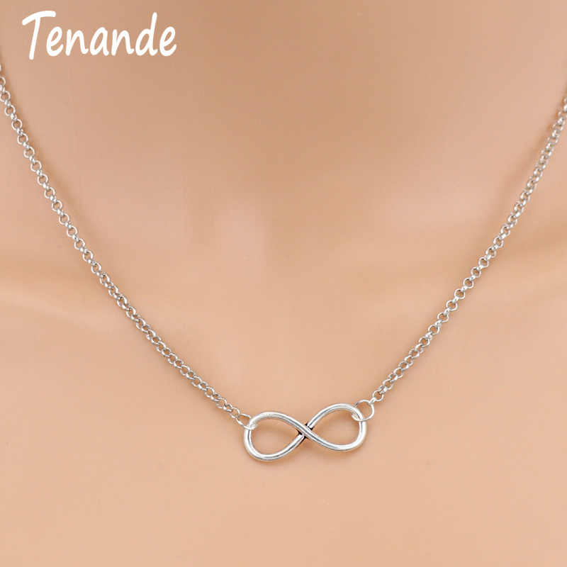Tenande New Fashion Silver Color Charm Jewelry Infinity Choker Necklaces & Pendants for Women Party Jewelry Gifts Bijuter Colar